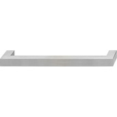 Cornerstone Series Stainless Steel Collection (9-1/2'' W) Cabinet Handle in Matt Stainless Steel, 243mm W x 40mm D x 15mm H, Center to Center: 228mm  (9'')