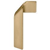 Design Deco Series Design Model H2155 Collection Zinc Right Side Handle in Matt Gold, 50mm W x 24mm D x 100mm H (1-15/16'' W x 7/8'' D x 3-15/16'' H), Center to Center: 16mm (5/8'')
