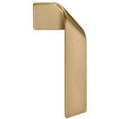 Design Deco Series Design Model H2155 Collection Zinc Left Side Handle in Matt Gold, 50mm W x 24mm D x 100mm H (1-15/16'' W x 7/8'' D x 3-15/16'' H), Center to Center: 16mm (5/8'')