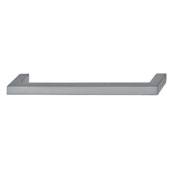 Vogue Collection (5-2/5''W) Handle in Brushed Nickel, 137mm W x 28mm D x 9mm H, 128mm Center to Center