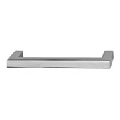 Vogue Collection (4-1/7''W) Handle in Polished Chrome, 105mm W x 28mm D x 9mm H, 96mm Center to Center