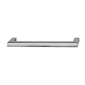 Vogue Collection (5-2/5''W) Handle in Polished Chrome, 137mm W x 28mm D x 9mm H, 128mm Center to Center