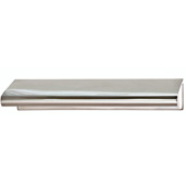 Cornerstone Series Tab Collection (4'' W) Brass Handle in Polished Chrome, 102mm W x 39mm D x 18mm H, Center to Center: 3''