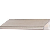 Cornerstone Series Tab Collection (3'' W) Brass Handle in Satin Chrome, 76mm W x 39mm D x 18mm H, Center to Center: 2''