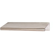 Cornerstone Series Tab Collection (4'' W) Brass Handle in Satin Chrome, 102mm W x 39mm D x 18mm H, Center to Center: 3''