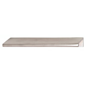 Tab Collection Brass Handle in Satin Chrome, 152mm W x 39mm D x 19mm H