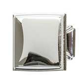 Hickory Bridges Collection (1-1/4'' W) Square Knob, Polished Chrome, 32mm W x 28mm D x 32mm H