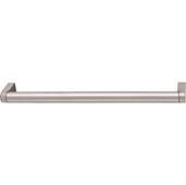 Cornerstone Series Contemporary (9-1/5'' W) Matt Stainless Steel Center Cabinet Handle with Matt Nickel Ends, 234mm W x 35mm D x 14mm H, Center to Center: 224mm  (9'')