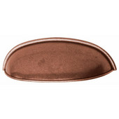 Luna Collection Cup Handle in Copper, 106mm W x 31mm D x 31mm H