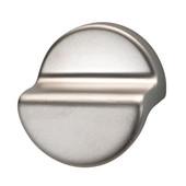 (1-5/8'' H) Modern Finger Pull Cabinet Handle in Matt Nickel, 24mm D x 41mm H