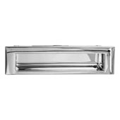 (6-6/7''W) Inset Pull, Polished Chrome, 174mm W x 15mm D x 46.5mm H, 160mm Center to Center