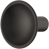 Eclipse Collection Knob in Black Matt, 35mm Diameter x 30mm Height