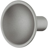 Eclipse Collection Knob in Silver Matt, 35mm Diameter x 30mm Height