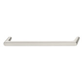 Design Deco Series Design Model H2125 Collection Zinc Handle in Satin/Brushed Nickel, 171mm W x 27mm D x 12mm H (6-3/4'' W x 1-1/16'' D x 1/2'' H), Center to Center: 160mm (6-5/16'')