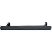 Design Deco Series Design Model H2115 Collection Zinc Handle in Brushed Black Nickel, 180mm W x 25mm D x 20mm H (7-1/16'' W x 1'' D x 13/16'' H), Center to Center: 128mm (5-1/16'')