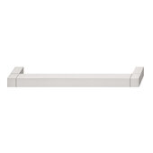 Design Deco Series Cube Collection Aluminum Pull Handle in Satin/Brushed Nickel, 206mm W x 34mm D x 14mm H (8-1/8'' W x 1-5/16'' D x 9/16'' H), Center to Center: 192mm (7-9/16'')