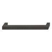 Design Deco Series Cube Collection Aluminum Pull Handle in Matt Black, 174mm W x 34mm D x 14mm H (6-7/8'' W x 1-5/16'' D x 9/16'' H), Center to Center: 160mm (6-5/16'')