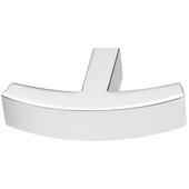 Design Deco Series Design Model H2145 Collection Zinc Alloy T-Knob in Polished Chrome, 62mm W x 42mm D x 13mm H (2-7/16'' W x 1-5/8'' D x 1/2'' H)