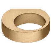 Design Deco Series Design Model H2150 Collection Zinc Alloy Knob in Matt Gold, 56mm W x 50mm D x 15mm H (2-3/16'' W x 1-15/16'' D x 9/16'' H)