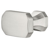 Design Deco Series Design Model H2185 Collection Zinc Alloy Knob in Satin/Brushed Nickel, 36mm W x 31mm D x 20mm H (1-7/16'' W x 1-1/4'' D x 13/16'' H)
