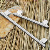 (6-1/4'' W) Bar Handle in Stainless Steel, 158mm W x 35mm D x 12mm H, Available in Multiple Sizes