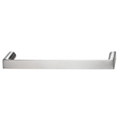 Cornerstone Series Soho Collection (5-3/8'' W) Handle in Stainless Steel Look, 136mm W x 27mm D x 12mm H, Center to Center: 128mm  (5-3/64'')