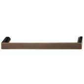 Cornerstone Series Soho Collection (5-3/8'' W) Handle in Oil Rubbed Bronze, 136mm W x 27mm D x 12mm H, Center to Center: 128mm  (5-3/64'')