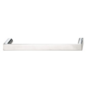 Cornerstone Series Soho Collection (5-3/8'' W) Handle in Polished Chrome, 136mm W x 27mm D x 12mm H, Center to Center: 128mm  (5-3/64'')