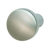 Nouveau Collection (4/5'' Dia.) Round Knob, Brushed Nickel, 20mm Diameter