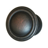 Keystone Fluted Style Collection (1-1/6'' Dia.) Round Knob, Oil-Rubbed Bronze, 30mm Diameter