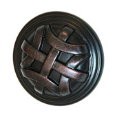Keystone Woven Style Collection (1-1/4'' Dia.) Round Knob, Oil-Rubbed Bronze, 32mm Diameter
