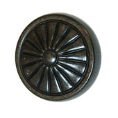 Keystone Retro Style Collection (1-1/4'' Dia.) Round Knob, Antique Black, 32mm Diameter