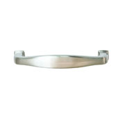 Keystone Transitional Style Collection (4-1/4''W) Handle, Satin Nickel, 108mm W x 15mm D x 27mm H, 96mm Center to Center