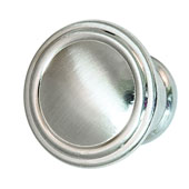 Keystone Fluted Style Collection (1-1/6'' Dia.) Round Knob, Satin Nickel, 30mm Diameter