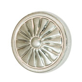 Keystone Retro Style Collection (1-1/4'' Dia.) Round Knob, Satin Nickel, 32mm Diameter