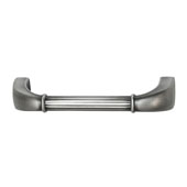 Keystone Fluted Style Collection (4-1/6''W) Handle, Satin Pewter, 106mm W x 20mm D x 31mm H, 96 Center to Center