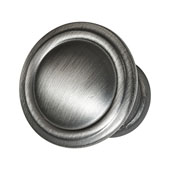 Keystone Fluted Style Collection (1-1/6'' Dia.) Round Knob, Satin Pewter, 30mm Diameter