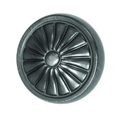 Keystone Retro Style Collection (1-1/4'' Dia.) Round Knob, Satin Pewter, 32mm Diameter