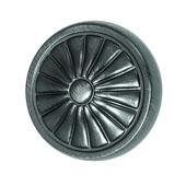 Keystone Retro Style Collection (1-1/4'' Dia.) Round Knob, Satin Pewter, 32mm Diameter
