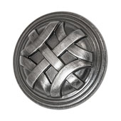 Keystone Woven Style Collection (1-1/4'' Dia.) Round Knob, Satin Pewter, 32mm Diameter
