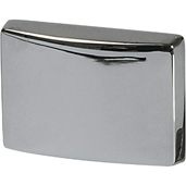 Cornerstone Series Elite Handle Collection (1-1/2'' W) Modern Knob in Polished Chrome, 39mm W x 26mm D x 28mm H