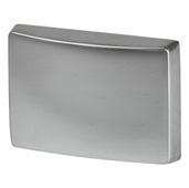 Cornerstone Series Elite Handle Collection (1-1/2'' W) Modern Knob in Matt Aluminum, 39mm W x 26mm D x 28mm H