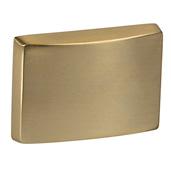 Cornerstone Series Elite Handle Collection (1-1/2'' W) Modern Knob in Matt Gold, 39mm W x 26mm D x 28mm H