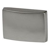 Cornerstone Series Elite Handle Collection (1-1/2'' W) Modern Knob in Matt Nickel, 39mm W x 26mm D x 28mm H