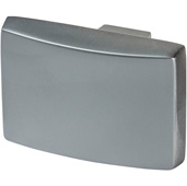 Cornerstone Series Elite Handle Collection (1-1/2'' W) Modern Knob in Slate/Graphite, 39mm W x 26mm D x 28mm H