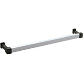 Cornerstone Series Contemporary (16-1/4'' W) Bar Handle in Matt Aluminum/Black, 412mm W x 39mm D x 27mm H, Center to Center: 384mm (13-3/4'')