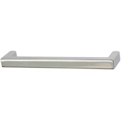 Cornerstone Series Modern Handle Collection (5-3/8'' W) Handle in Polished Chrome, 136.5mm W x 27mm D x 12mm H, Center to Center: 128mm  (5-3/64'')
