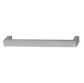 Cornerstone Series Modern Handle Collection (5-3/8'' W) Handle in Matt Aluminum, 136.5mm W x 27mm D x 12mm H, Center to Center: 128mm  (5-3/64'')