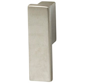 Cornerstone Series Modern Handle Collection (1/2'' W) Finger Pull Handle in Matt Nickel, 13.5mm W x 21mm D x 47mm H, Center to Center: 16mm  (5/8'')