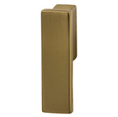 Cornerstone Series Modern Handle Collection (1/2'' W) Finger Pull Handle in Matt Gold, 13.5mm W x 21mm D x 47mm H, Center to Center: 16mm  (5/8'')